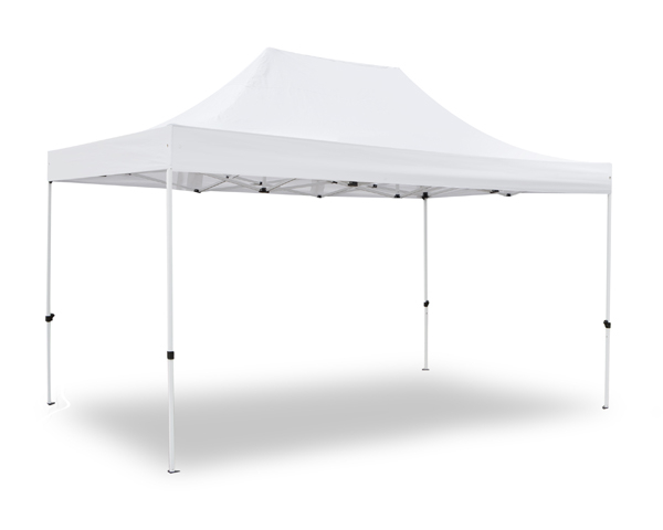 Hybrid Plus 3m x 4.5m Pop Up Steel/Aluminium Gazebo - White