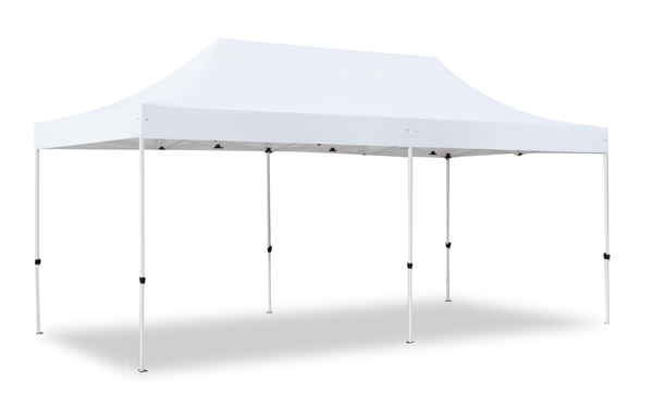 Hybrid 3m x 6m Pop Up Steel/Aluminium Gazebo - White