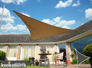 Kookaburra® 3.6m Triangle Mocha Waterproof Woven Shade Sail