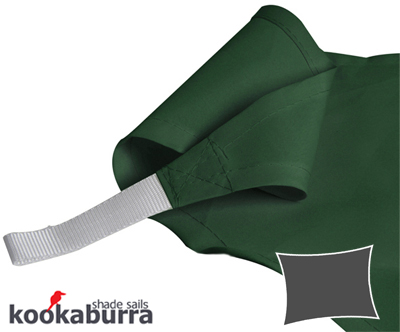 Kookaburra 5mx4m Rectangle Green Party Sail Shade (Woven - Water Resistant)
