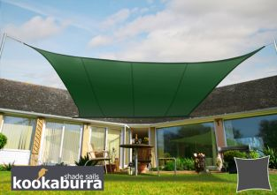 Kookaburra® 5.4m Square Green Party Sail Shade (Woven - Water Resistant)