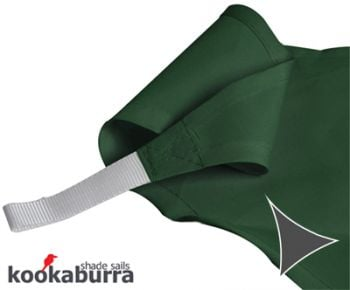 Kookaburra 3m Triangle Green Party Sail Shade (Woven - Water Resistant)