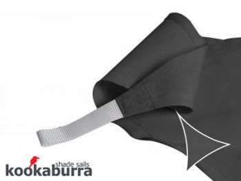 Kookaburra® 5m Triangle Charcoal Party Sail Shade (Woven - Water Resistant)