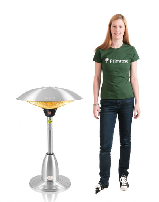 2.1kW Halogen Bulb Infrared Electric Table Top Heater with 3 Heat Settings by Firefly™