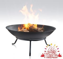 56cm Kamen Cast Iron Planter/Pond/Fire Bowl/Water Feature - By La Fiesta