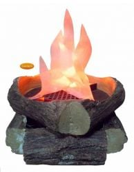 Gardeco Artificial Log Fire with Flame Effect H13cm