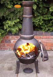 Granada Bronze Chiminea by Gardeco™