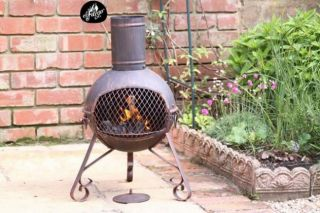 Lexie Bronze Chiminea H70cm by Gardeco™