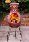 Gardeco Fire Clay Chiminea - H115cm x D41cm