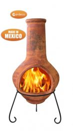 Tibor - Jumbo Mexixan Chiminea in Brown by Gardeco™