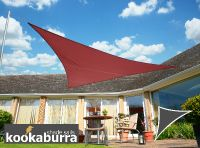 Kookaburra® 6m Right Angle Triangle Marsala Red Waterproof Woven Shade Sail