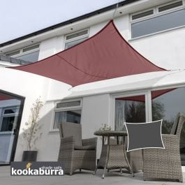 Kookaburra® 4mx3m Rectangle Marsala Red Waterproof Woven Shade Sail