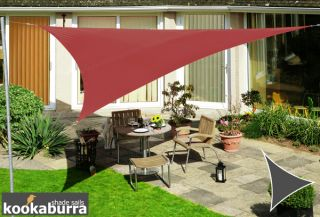 Kookaburra® 3.6m Triangle Marsala Red Waterproof Woven Shade Sail