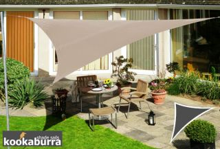 Kookaburra® 6m Right Angle Triangle Mushroom Waterproof Woven Shade Sail