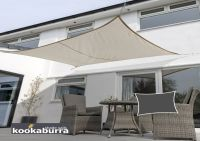 Kookaburra 3mx2m Rectangle Mushroom Waterproof Woven Shade Sail