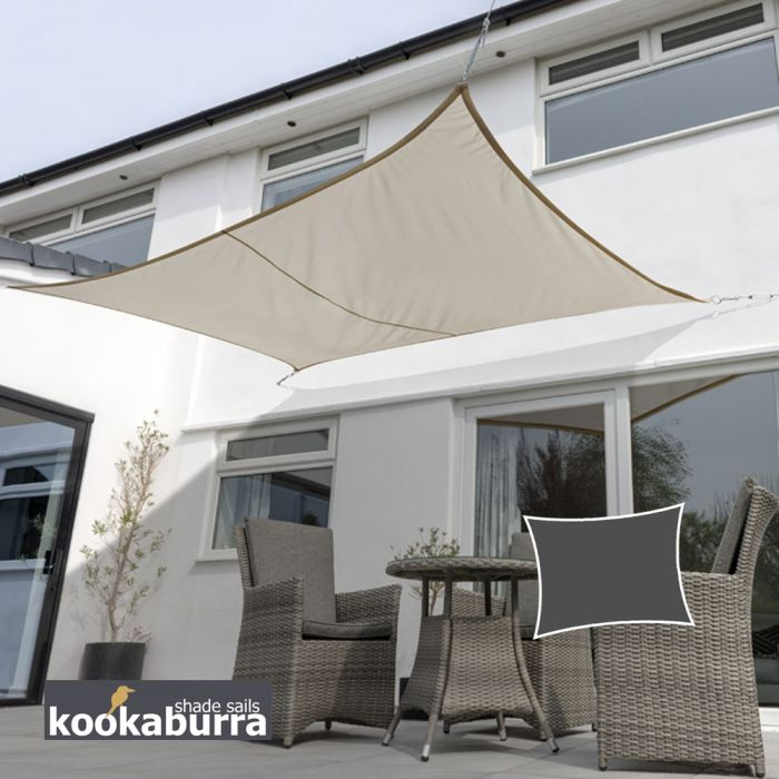 Kookaburra® 3mx2m Rectangle Mushroom Waterproof Woven Shade Sail