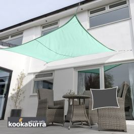 Kookaburra® 4mx3m Rectangle Turquoise Waterproof Woven Shade Sail