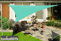 Kookaburra® 3.6m Triangle Turquoise Waterproof Woven Shade Sail