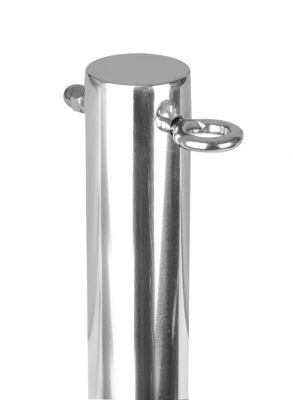 "9.8"" / 3m Stainless Steel Shade Sail Pole with Eyebolts - 3 Sections"