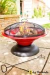 Moda Enamelled Firepit in Red - by La Hacienda™