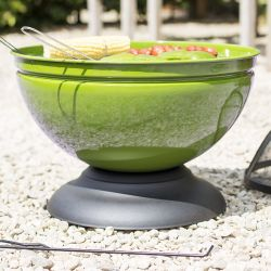 Enamelled Globe Firepit with Grill in Lime - by La Hacienda™