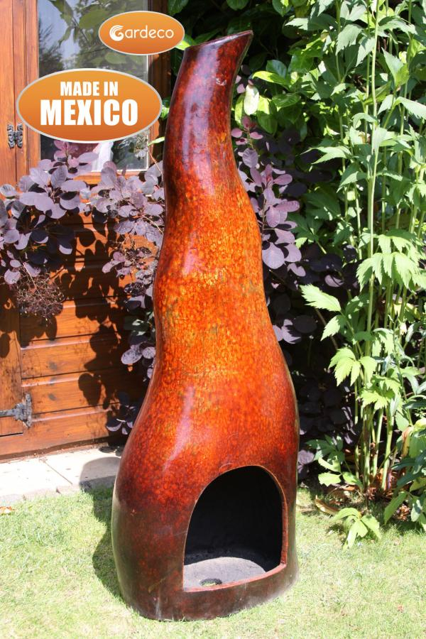 Flama Mexican Art Clay Chiminea - H1.2m by Gardeco™