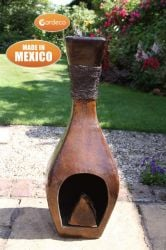 Tonala Mexican Art Clay Chimenea - H82cm by Gardeco™