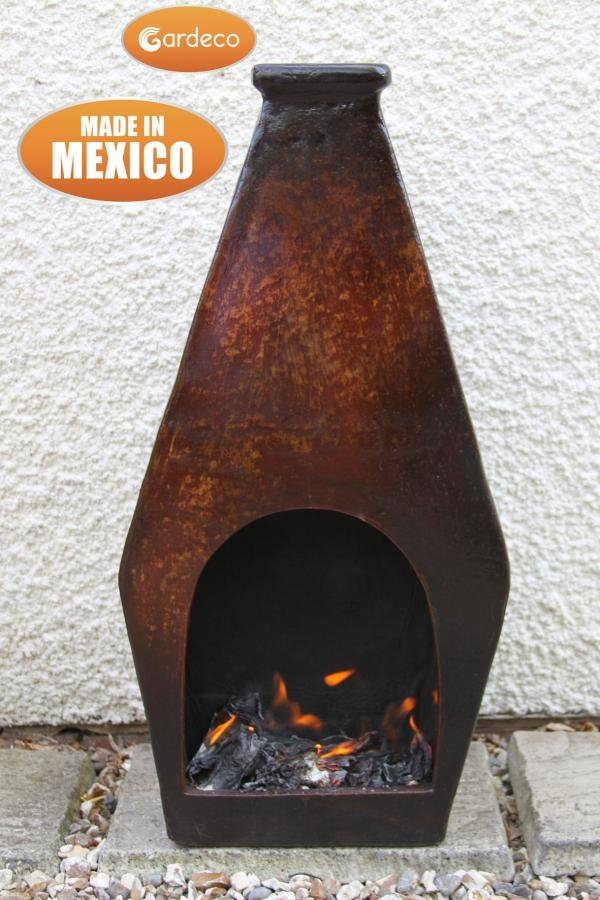 Romba Mexican Art Clay Chimenea - H88cm by Gardeco™