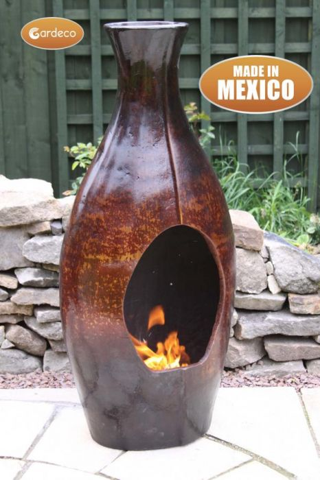 Botella Mexican Art Clay Chimenea - Large - H82cm by Gardeco™