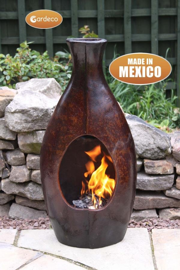 Botella Mexican Art Clay Chimenea - Medium - H73cm by Gardeco™