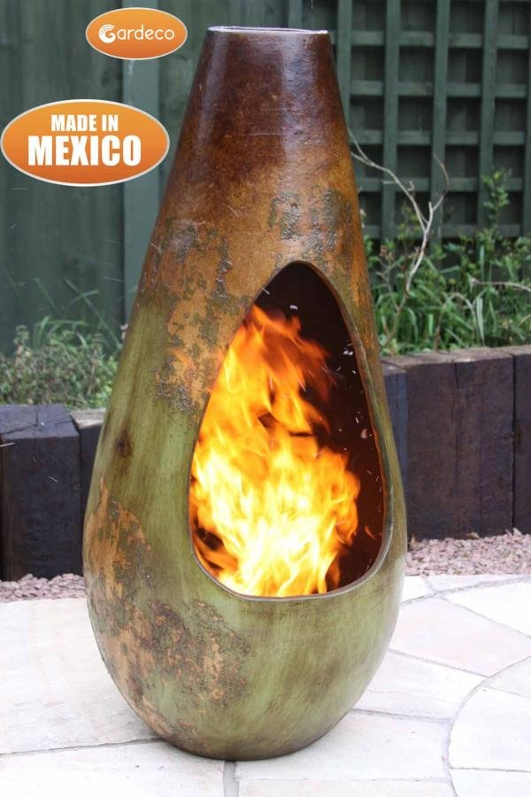 Gota Mexican Art Clay Chimenea - Large - H100cm by Gardeco™