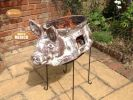 Asador Cerdito Mexican Art Clay Chiminea and BBQ - H88cm by Gardeco™