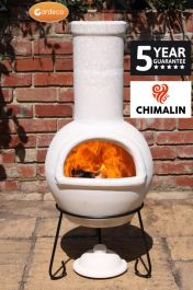 Sempra Fireproof Clay Chiminea - Natural Finish - H105cm by Gardeco™