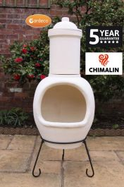 Asteria Fireproof Clay Chiminea - Natural Finish - H129cm by Gardeco™
