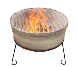 75cm Atlas Clay Fire Pit in Glazed Light Brown by Gardeco™