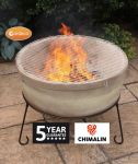 Atlas Fireproof Clay Fire Pit - Glazed Light Brown - Dia75cm by Gardeco™