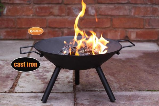 25cm Cast Iron Small Fire Bowl - by Gardeco™