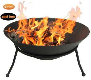 Cast Iron Large Fire Bowl - H30cm by Gardeco™