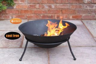 60cm Diameter Cast Iron Large Fire Bowl by Gardeco™