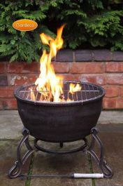 45cm Ornamental Cast Iron Bronze Fire Bowl by Gardeco™