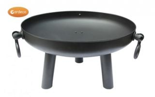 Dia 60cm Black Steel Fire Pit - by Gardeco™