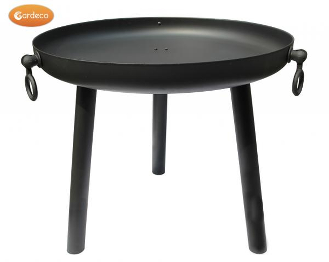 Black Steel Fire Pit - Dia80cm by Gardeco™