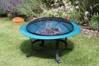 Cassio Steel Fire Pit Dark Green - Dia74cm by Gardeco�