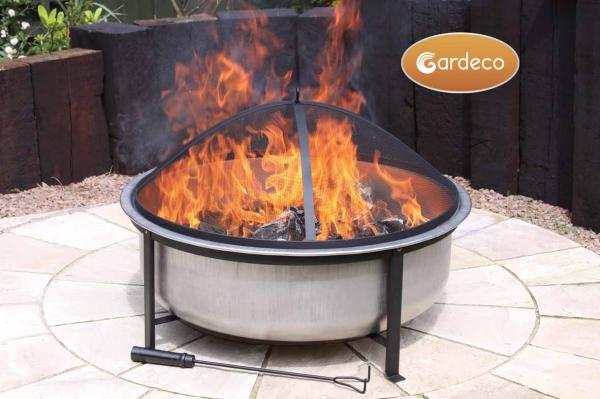 Vega Stainless Steel Fire Pit - Dia78cm by Gardeco™