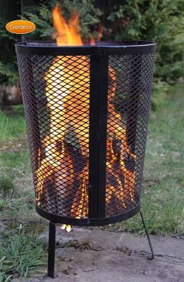 Large Steel Garden Fire Pit/Incinerator - H80cm by Gardeco™