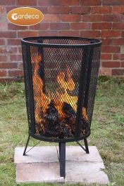 H80cm Large Steel Garden Fire Pit/Incinerator - by Gardeco™