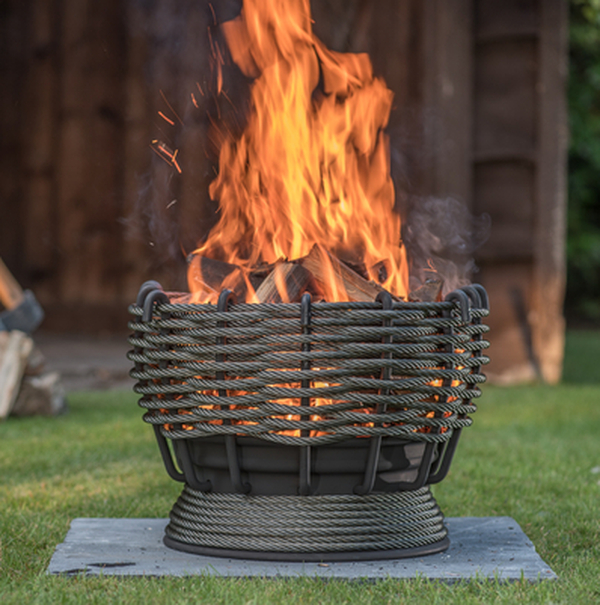 48cm The Smelter Woven Steel Firepit