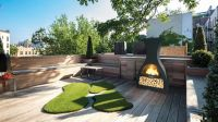 Wine Steel Chiminea BBQ - H1.4m