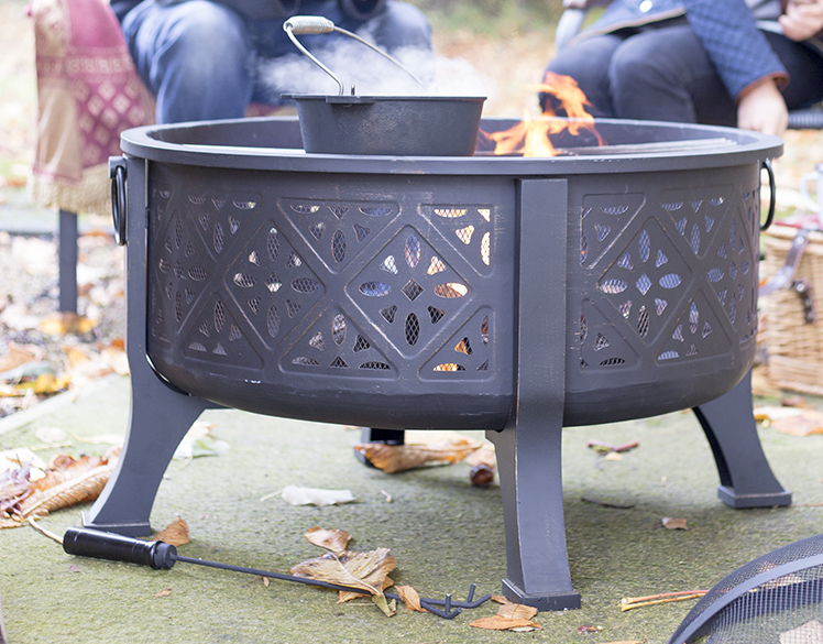 76cm Moresque Steel Firepit with Grill - by La Hacienda™