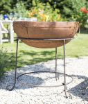 Large Zanga Steel Firepit with Grill - dia70cm by La Hacienda™